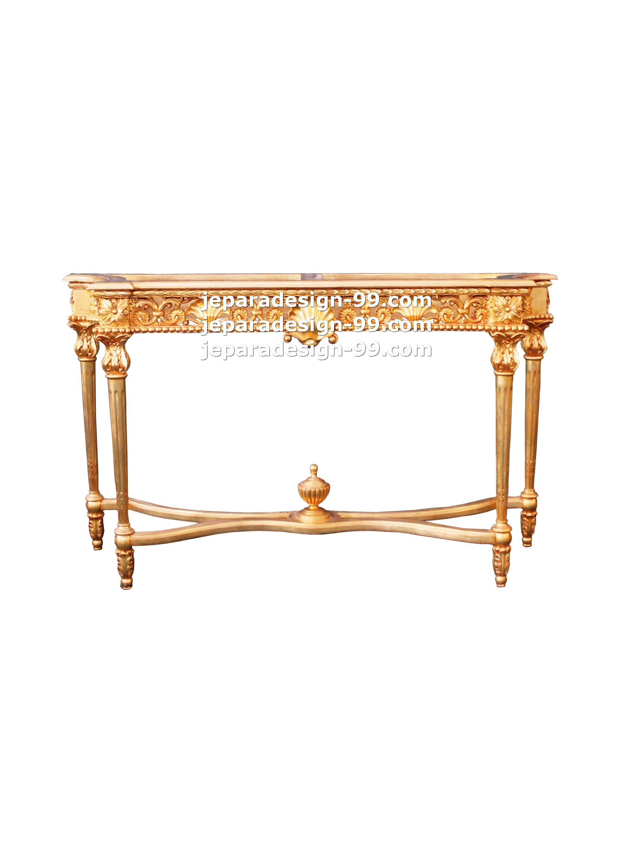 French provincial classic console table by jepara design 99 console table cst 002 gl watchthetrailerfo
