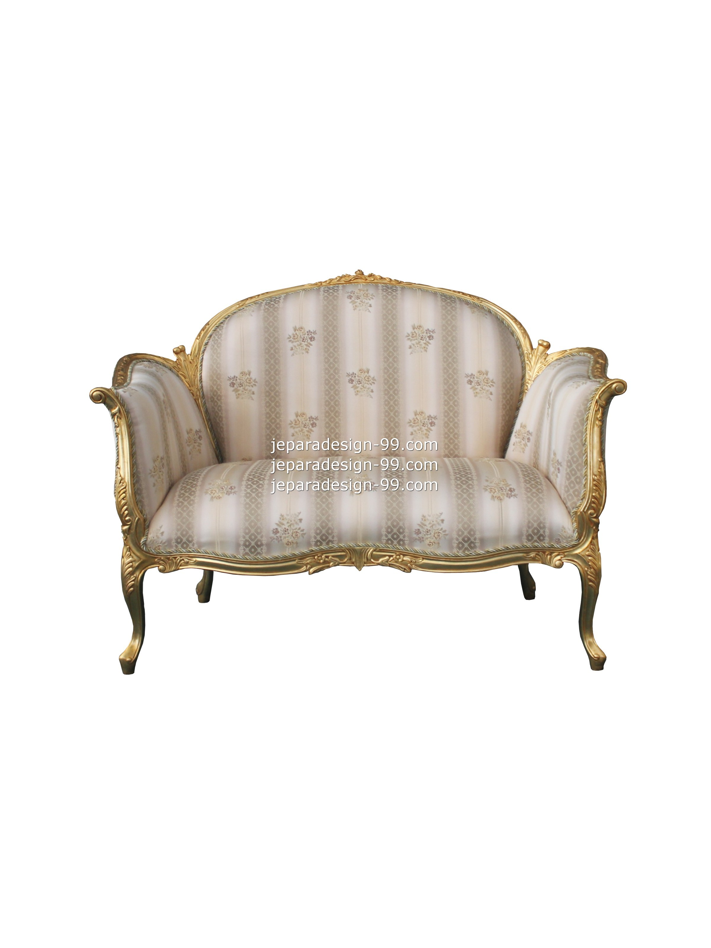 Double Seater Sofa Sf 013 Ds G Gold Leaf