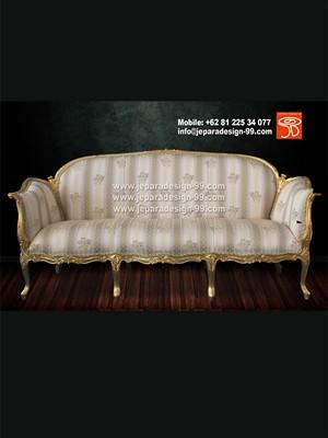 Queen Anne Sofa Set Gold Leaf